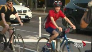 Bloor Street bike lanes now open for 1-year pilot project