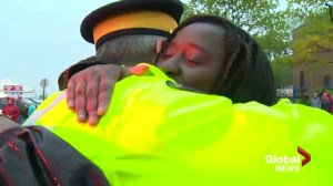 Hundreds gather to thank RCMP at emotional Moncton vigil