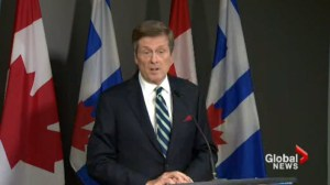 Mayor John Tory announces he's pleased with new Ontario provincial budget