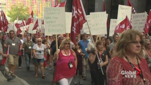 Unifor march against Harper