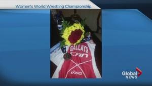 World bronze medal champion woman's wrestler