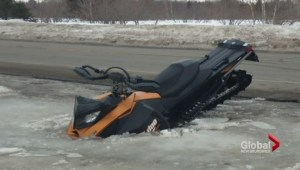 Warm weather brings plea for snowmobile safety
