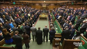 U.K. MPs hold minute's silence for London attack victims