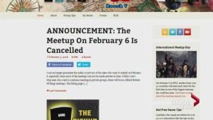 Return of Kings cancels meetings