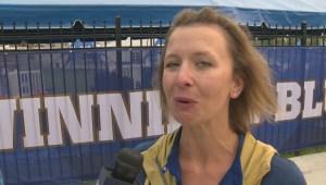 Cheerleaders prepare for Winnipeg Blue Bombers home opener