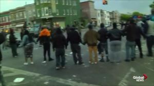 Raw video: AP cameras go to forefront of Baltimore riots