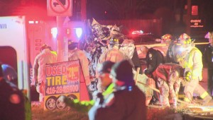 Male injured after vehicle rollover in Toronto's east end