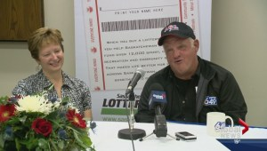 Saskatchewan's newest millionaire returns to work