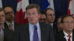 Mayor Tory calls Rob Ford a 'profoundly human guy'