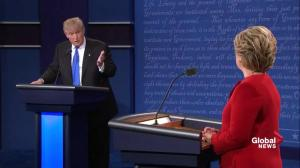 Presidential debate: Trump says Clinton's happiness is 'very important' to him