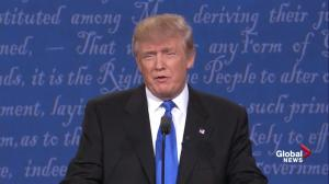 Presidential debate: Trump's sniffles drawing attention during first debate