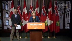 Ontario NDP Leader Andrea Horwath announces pharmacare plan covering 125 drugs