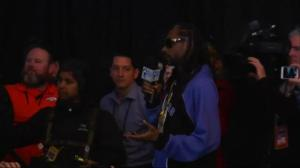Snoop Dogg becomes a reporter for Super Bowl media week