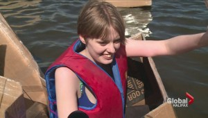 Cole Harbour High students hit the water in cardboard boats