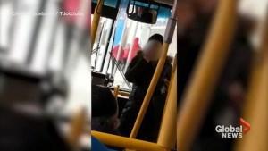 Vulgar altercation caught on camera between two passengers on York Region Transit bus