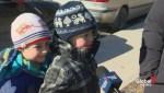 Children upset with skating ban on Grenadier Pond