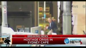 New angle of hostages fleeing from Sydney cafe