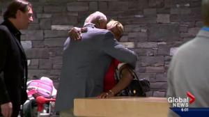 Parents of Mylan Hicks arrive in Calgary to warm embrace from Stampeders organization