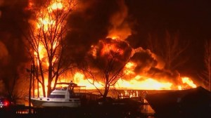 Fire consumes Tonawanda Island marina in New York