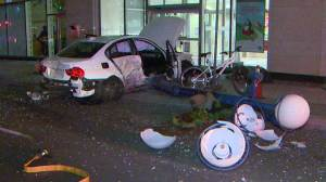 Raw Video: 5 injured after two-vehicle crash in downtown Toronto