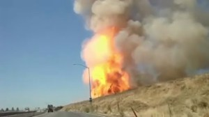 RAW: Gas pipeline explosion in California