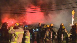 Raw: Laval fire destroys home
