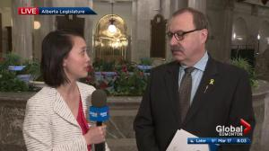 Alberta Budget 2017: Interm PC leader on Global News Morning