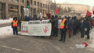 Anti-austerity protest in Montreal