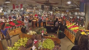 Vancouver Urban Fare grocery store shows Canada 150 spirit