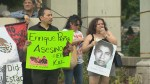 Protesters denounce Mexican president over 43 students who are missing and presumed dead