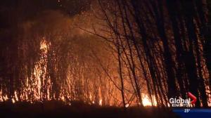 Dozens of people displaced by wildfires west of Edmonton