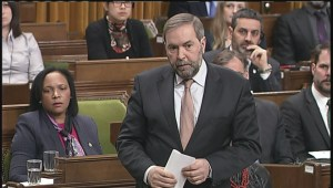 Mulcair, Nicholson get into heated exchange over Canada's anti-ISIS mission