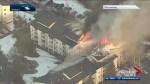 Fire crews remain on scene of west Edmonton apartment blaze