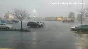 Amateur video: Golf ball-sized hail rains down across parts of Missouri