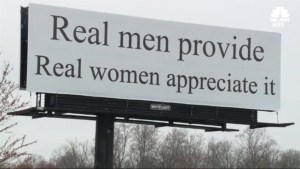 'Real men provide, real women appreciate it': Controversial N.C. billboard draws outrage