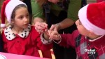 Children from Syria enjoy first taste of Christmas turkey
