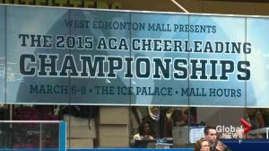 Cheerleading competition goes ahead at West Edmonton Mall