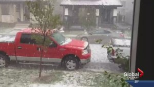 Airdrie pounded by hail, possible tornado