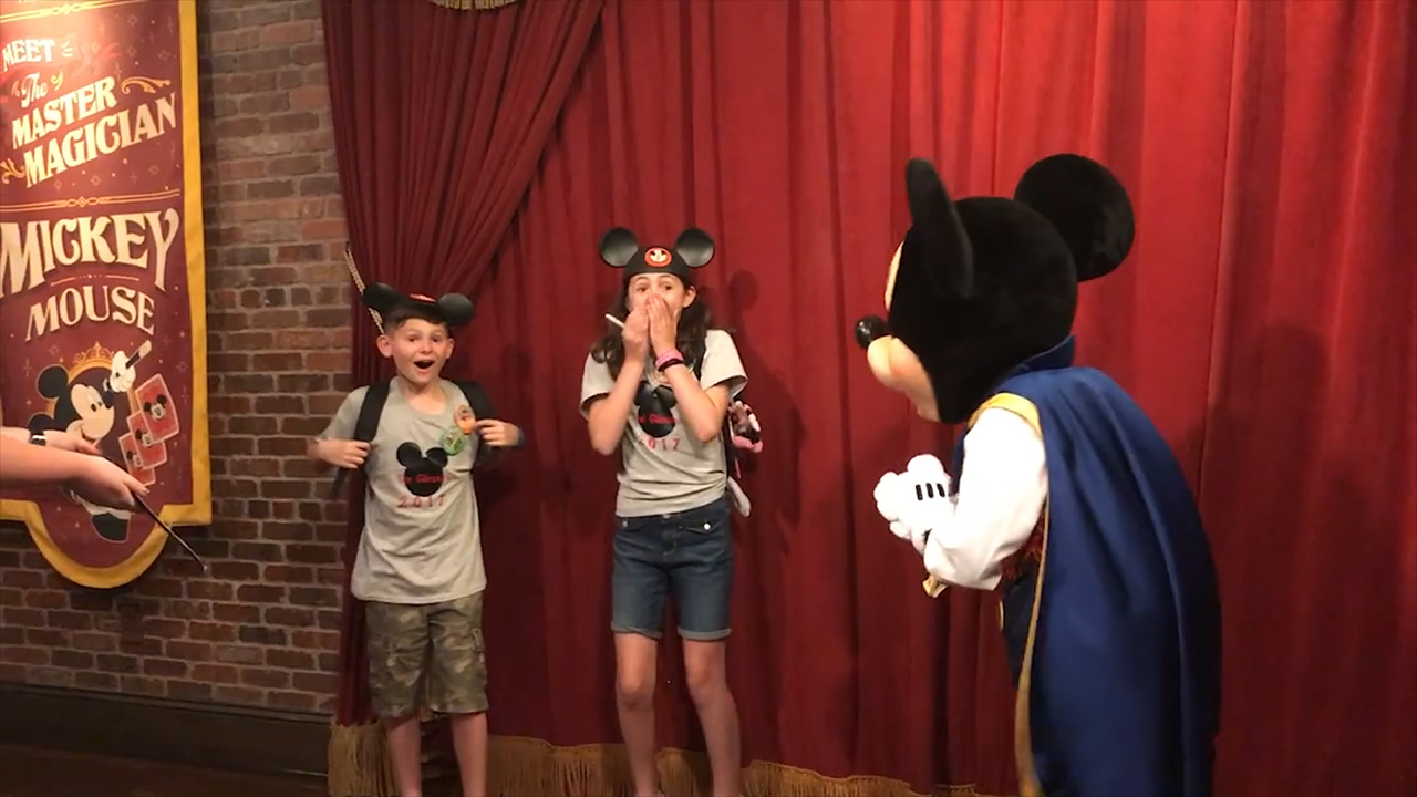 Mickey Mouse helps tell kids they've been adopted
