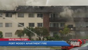 Port Moody apartment catches fire again