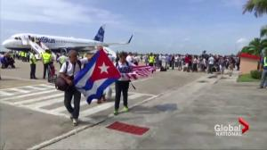 United States commercial flight to Cuba lands, first in 55 years