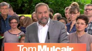 Mulcair touts affordable childcare plan at Vancouver campaign stop