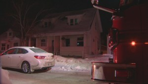Crews battle house fire in Elmwood area
