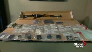 AK-47 assault rifle and drugs seized by Calgary police