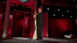 "Trump Inauguration: Donald and Melania Trump first dance to Frank Sinatra's ""My Way"""