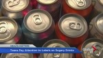 Teens pay attention to health labels on drinks