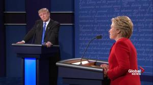 Presidential debate: Clinton says a man who can be provoked by a tweet 'shouldn't have his finger near the nuclear codes'