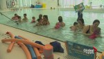 Babies make a splash in swimming lessons for newborns