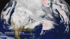 NASA weather model shows flow of weekend blizzard that hammered U.S.