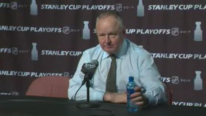 Ducks coach Randy Carlyle talks about Game 5 win over Oilers